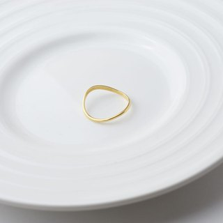 Happiness curve (k gold plated ring) - C percent handmade jewelry