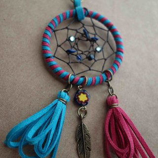 ~ M + Bear ~ Dreamcatcher Dreamcatcher (key ring / color pink and blue)