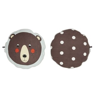 Round Print Pillow - Bear | OYOY