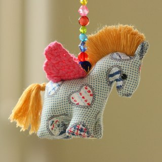 Warm little out of hand-prepared Pegasus Charm - Pink Ceiling flowers Horse (pink wings)