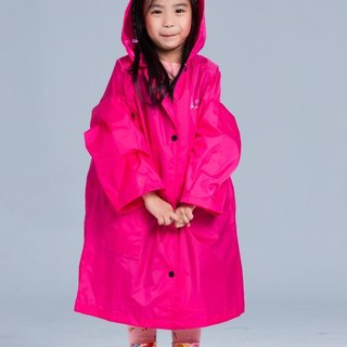 [Paris Rainbow] before the French Open reflective coveralls children raincoat / glitter peach