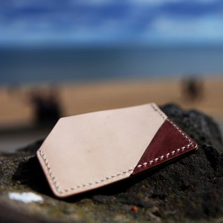 40. A simple hand-made leather Card Holder / Card Holder