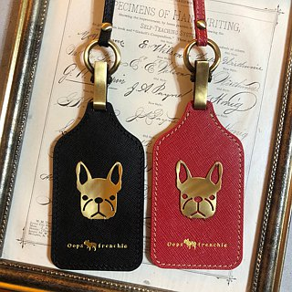 Oops Leather Leather Neck Identification Card / Leisure Card Holder - Mother's Day Gift -