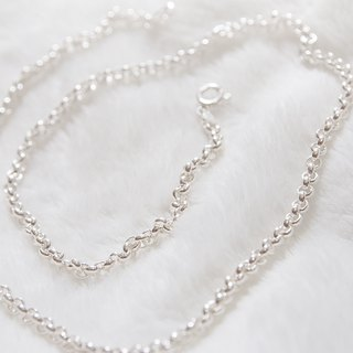 [Silver] Xia Bomi creative 20-inch sterling silver pearl chain design models, more suitable to wear neutral (sold separately)