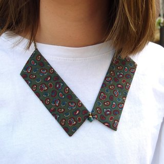 Collar Necklace| Vintage Paisley| Green