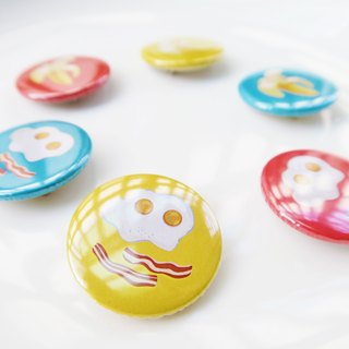 AKIKU Food Badge (Bacon Egg, Banana)