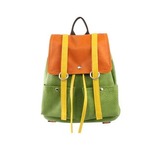 AMIMAH-Super CUTE. Fresh Orange Green Backpack [am-0219]