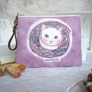 <Animals in the Secret Land>Curiosity of cats Coin Purses( big size)