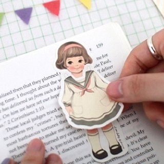 South Korea] [Afrocat paper doll mate sticky memo <Sally> note affixed label stickers