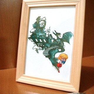 【Pin】The Shadow of Fairly Tale│Original painting│Frame included