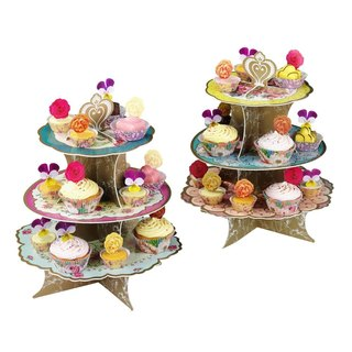 """Wonderful taste § Layer Cake stand"" Britain Talking Tables Party Supplies"