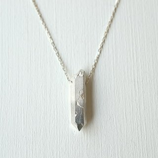 Silver crystal stone necklace