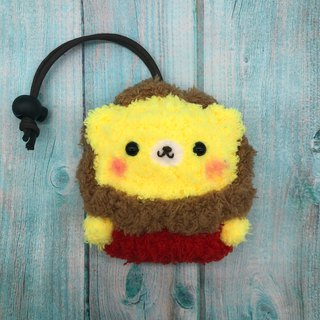 Marshmallow Animal Key Bag - Small Key Bag (Lion)