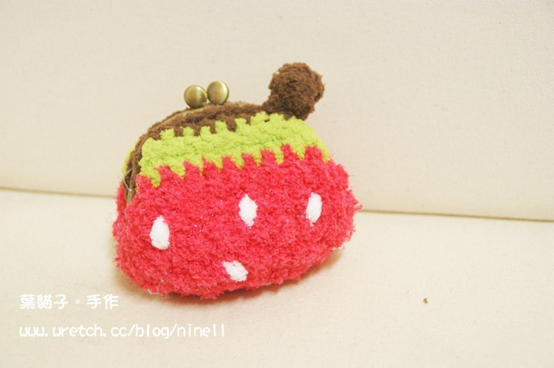 [Leaf cat son. Hand-made crochet doll] finished - Strawberry mouth gold package