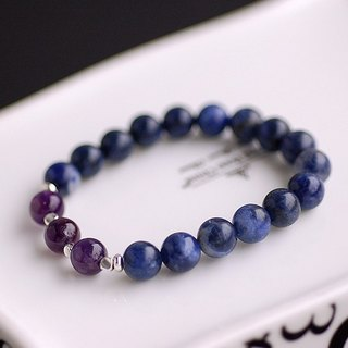 Amethyst * Deep Diamonds Silver Bead Bracelet