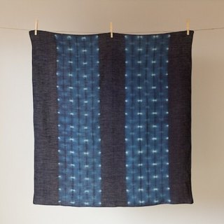 Pint! This blue dyed linen wind Lu Fu Furoshiki
