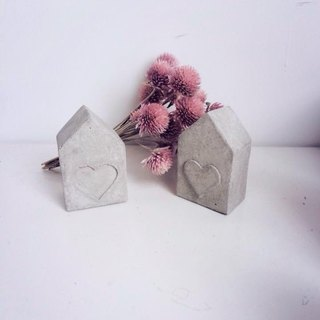 JokerMan / 0 - house into a new home & new housing & lover & wedding & home & office & indoor miniature forest & desk healing relieve pressure on small objects - small cement house [affiliated] · · Small Things wedding decoratio