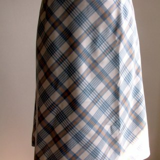 Skirt plaid pattern - light blue