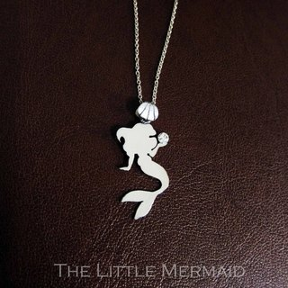 :: Valentine's Day :: 925 Silver Little Mermaid Silver Necklace