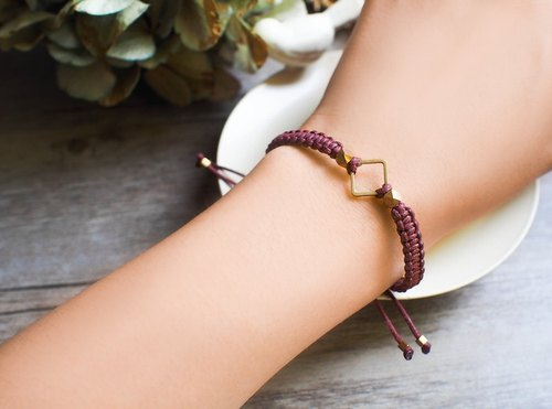 LIULIUYA [box] brass surf rope bracelet