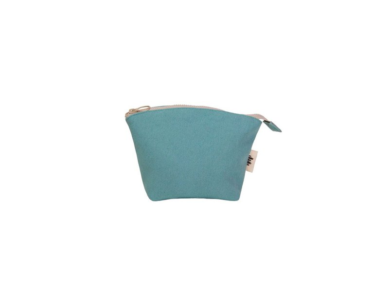 [Seashell Cosmetic Bag] - Lake Blue Canvas (Small)
