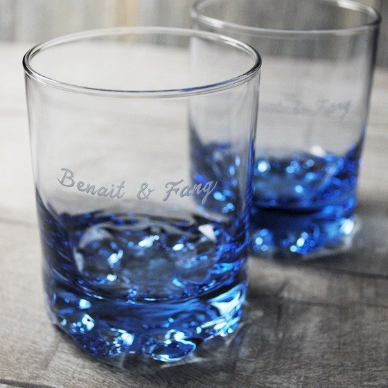 220cc A Pair Of Price Msa Lettering Whiskey Cup Deep Sea Blue