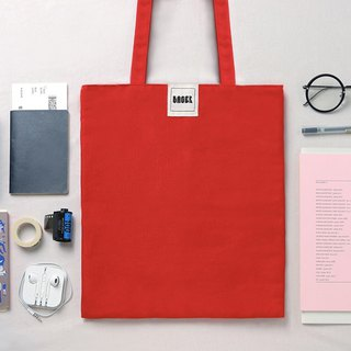 No veins canvas bag / red