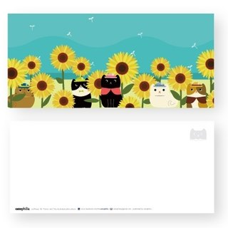 Hime's cats My Cat Postcard Sunflower