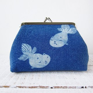 Herbal Dyed Purse - Goldfish Cat