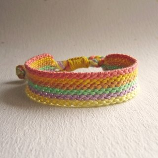 Hope rainbow lucky rope woven bracelet (optional color)