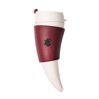[GOAT STORY] Goat Mug goat horn horns mugs mug 12oz / 350ml- burgundy