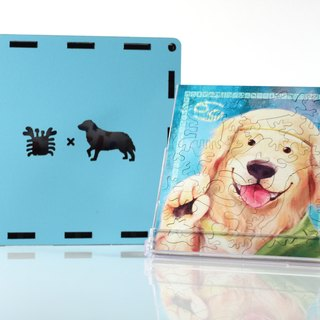 35P wooden puzzle _ Cancer X Golden Retriever