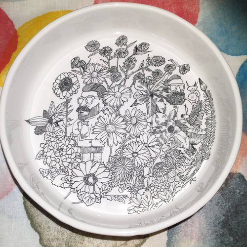 6004 | Backyard Backyard | Hand-painted Ceramic Plates | Porcelain Painted