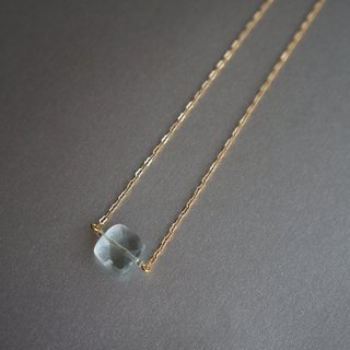 Limited cutting and sea Sapphire crystal necklace
