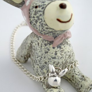 Cute Bunny Handmade sterling silver bracelets (accompany Series - I love you Bunny.)