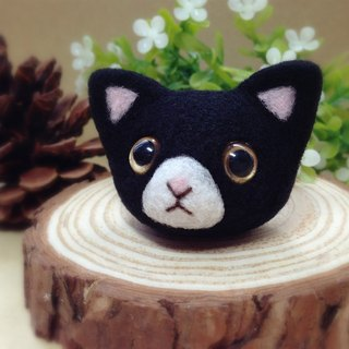 [Hairy] cream wool felt handmade cute kitty cat Norwegian Forest black Mercedes Jichao Meng Ji headset plug dust plug mobile phone strap keychain birthday gift Valentine's Day gift