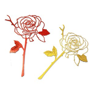 Desk+1 │ Rose Bookmark (Red + Gold) Double Set
