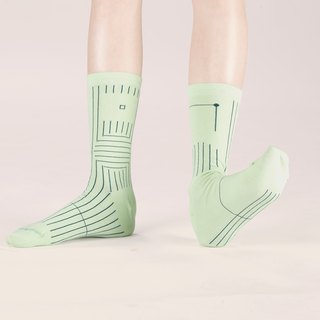 BILATERAL pale green socks