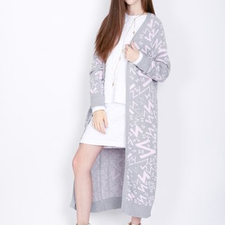 ZIZTAR letter paradise long sweater coat