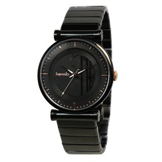 Ingenuity Fashion Stainless Steel Men's Watch - Bamboo - Black Face Black Frame Black Steel Band