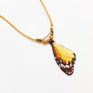 Embroidery Wings Necklace / Plain Tiger Butterfly
