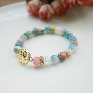 Please kiss me / natural stone stained stone bracelet bracelet dream