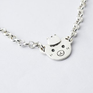 Little bear - Children's forest paradise series (925 silver bracelet)