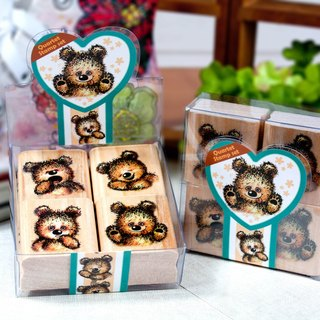 Four into the stamp set - Naughty Bear