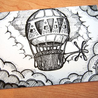 Postcard - hot air balloon
