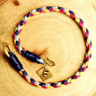 Happiness shimmer. [Customized] hand typing along brand ◆ Sugar Nok ◆ hand-woven wax wire bracelet brass