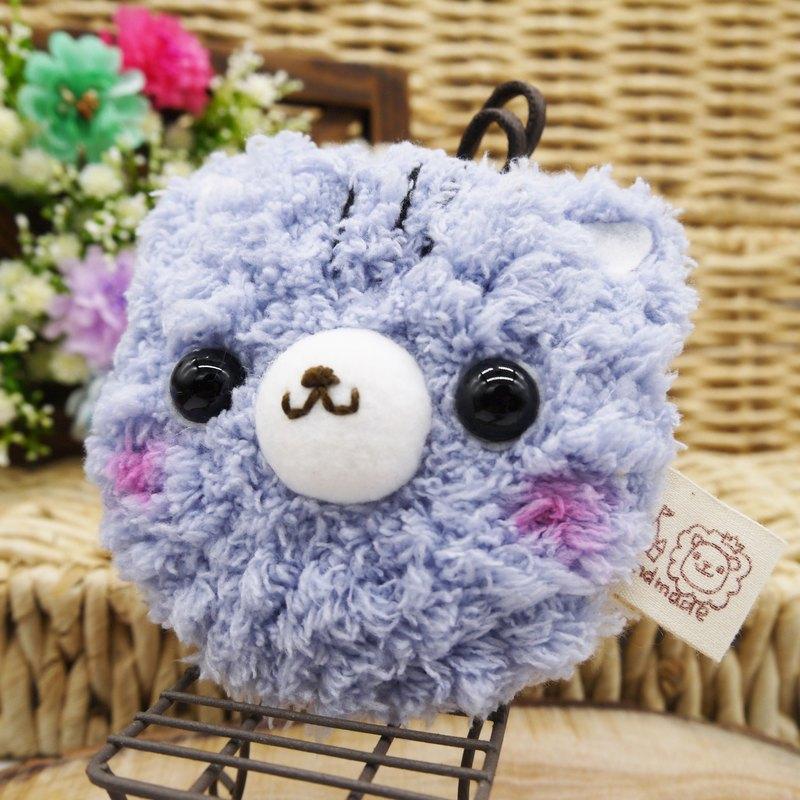 灰貓咪-棉花糖動物小圓鏡-