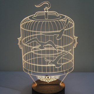 LightXLife 3D Night Lights - Bird Cage