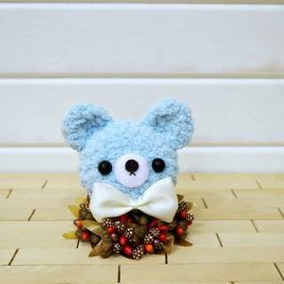 Macaron - Bear - Light Blue. key ring. Charm