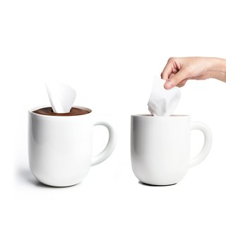 QUALY coffee cup - roll toilet paper box